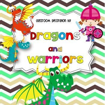 Dragons and Warriors Galore!!This classroom decoration kit includes:Classroom Rules (Whole Brain)Word WallDesk Plates (3 designs)Numbers 1-9 and 1-32Behavior Punch Cards (2 sets)Classroom Bucks ($1,$5, $10)How are You getting home?- Clip ChartClassroom SignsLetters home templateThank you templateClassroom Job Clip ChartApplicationsBehavior Clip ChartBehavior take home calendarsHappy Birthday Pencil ToppersBanner-Welcome Warriors!Calendar headersCenter Rotation signsInteractive writing…