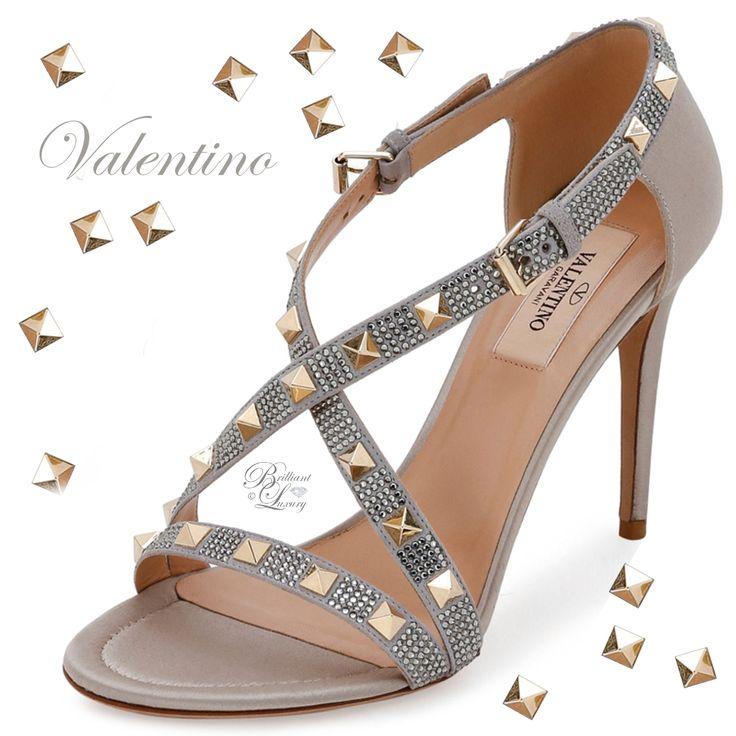 Brilliant Luxury goes instram by emmy_de_ ♦ Valentino Rockstud Strass Crisscross Sandal