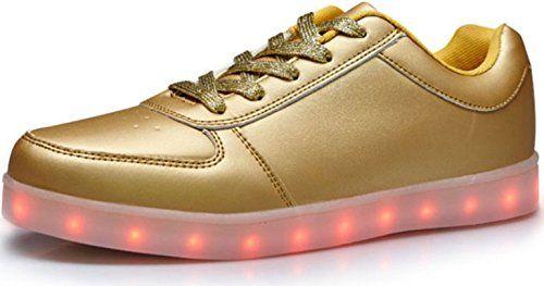 Unisex LED Sneaker Schuhe Blinkschuhe Leuchtschuhe Damen Herren Silver Gold Lowcut (38, Gold) - http://on-line-kaufen.de/verstrahlt/38-eu-unisex-led-sneaker-schuhe-blinkschuhe-damen
