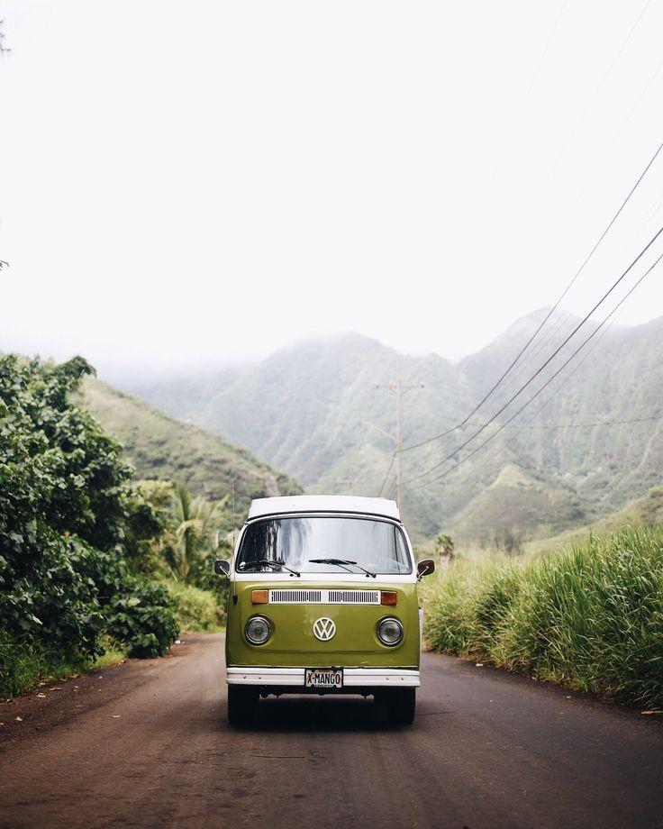 Vintage VW Bus   Green VW Camper Van   Hanahou Campers   Rent a Vintage VW Bus on Oahu   Travel Guide to Oahu via @elanaloo + elanaloo.com