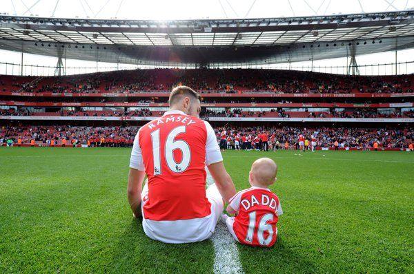 Aaron Ramsey & son. May 2016