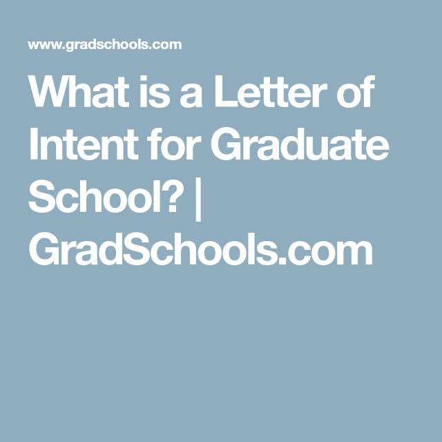 Best  Letter Of Intent Ideas On   Graduate School