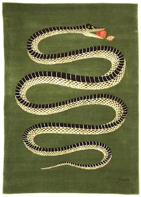 Roubini rug amiamo il serpente by piero fornasetti