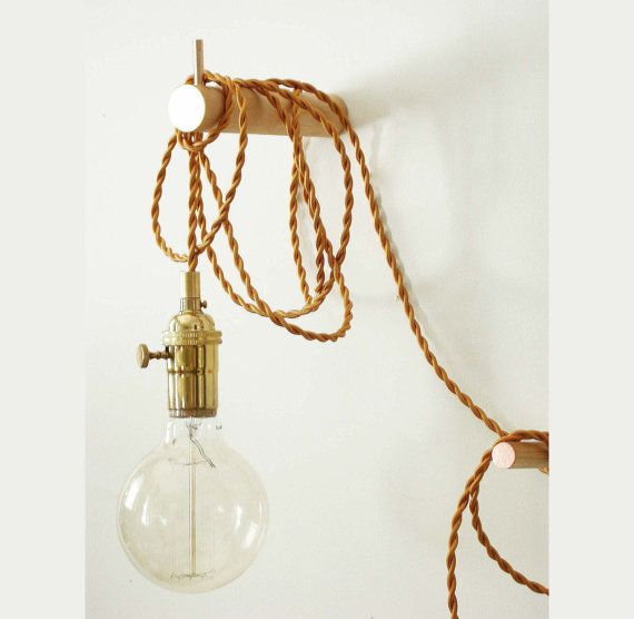 Pendant Light Brass Wall Lighting Edison Bulb Adjustable Sconce Bedroom Light Wall Sconce