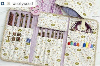 """Домик в одуванчиках: Чехол для спиц и крючков """"Прованс"""" / Knitting Needle Case"""