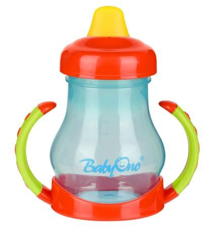 BabyOno с ручками с мягким носиком 180 мл  — 370р. -------------  Кружка-непроливайка с мягким носиком поможет вашему крохе быстро привыкнуть пить самостоятельно. Он имеет яркий привлекательный дизайн и точно понравится малышу. Кружка-непроливайка развивает мелкую моторику ребенка, стимулирует к самостоятельности, способствует тренировке зрения. Его очень удобно использовать дома.   Особенности: идеально подходит для деток, которые уже учатся пить самостоятельно имеет практичный дизайн…