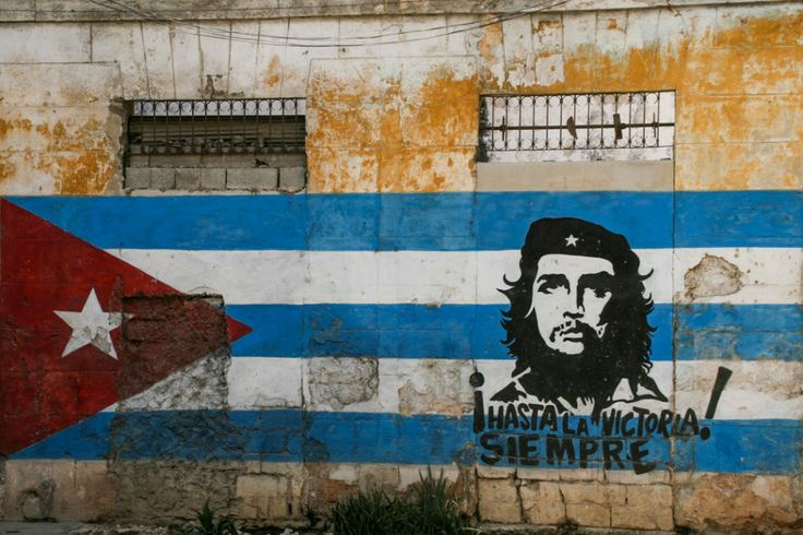 Street art cuban flag che guevarra i 39 m not communist for Complete the mural uncharted 3