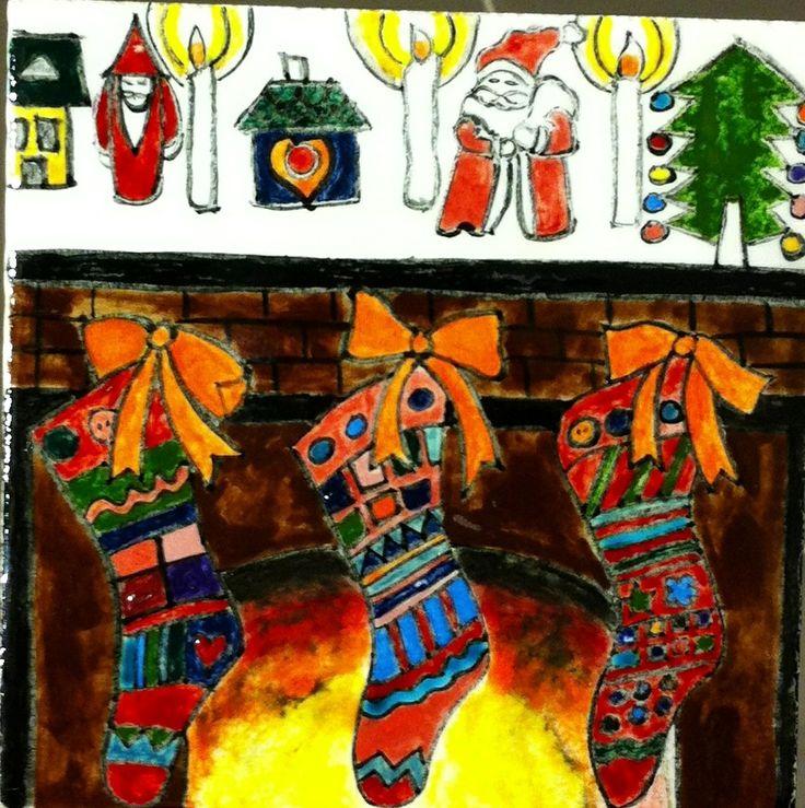 MADE BY Benian arsiray @benianarsiray çini ceramic tile new year
