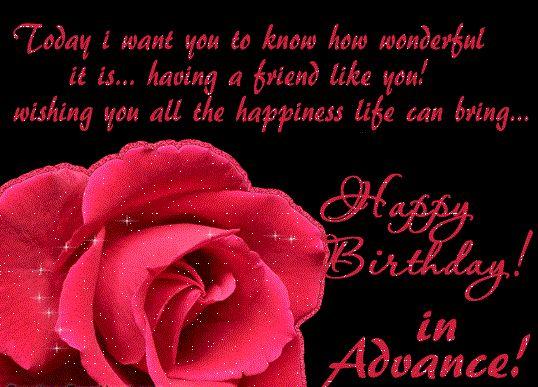 Advance happy birthday quotes Advance happy birthday quotes