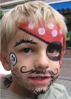 tolle schminkidee f r ein piratenkost m masken aus. Black Bedroom Furniture Sets. Home Design Ideas