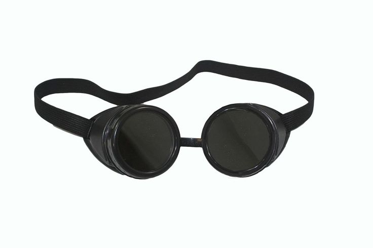 Black Welding Goggles #5 Lens 50mm Eye Cup Shade Steampunk & Despicable Me Props #ABN