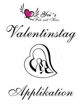 Applikation Valentinstag