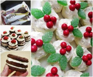 Mini Chocolate Ripple Christmas Cakes