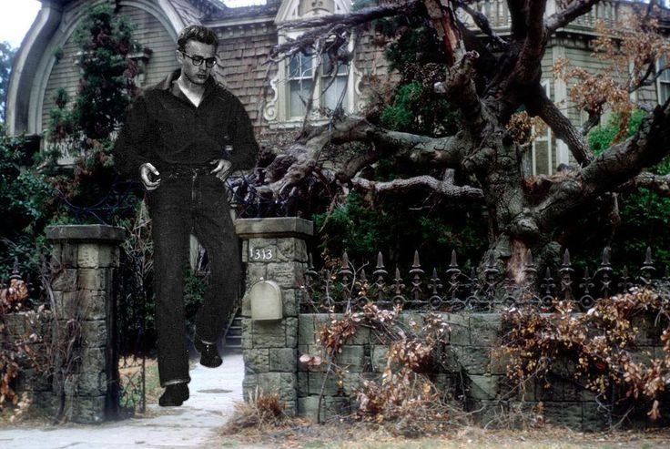 James Dean the Giant leaving 1313 Mockingbird Lane