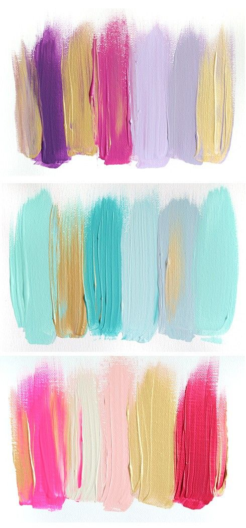 colour palettes- some of my very favourite colours