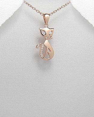Sølvanheng, Rosa katt med Cubic Zirkonia