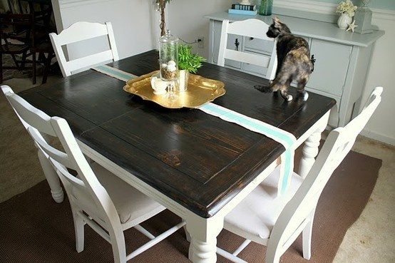 Refinished table kitchen pinterest colors the o 39 jays and dining rooms - Refinishing a kitchen table ...