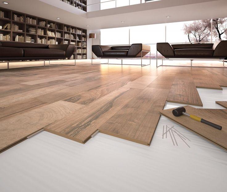 Il pavimento in gres porcellanato Saloon Fast di Del Conca realizzato con tecnologia digitale offre la stessa sensazione di calore di un leg...