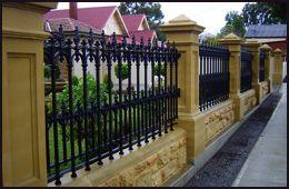 Sandstone Fence Pillars. The Federation