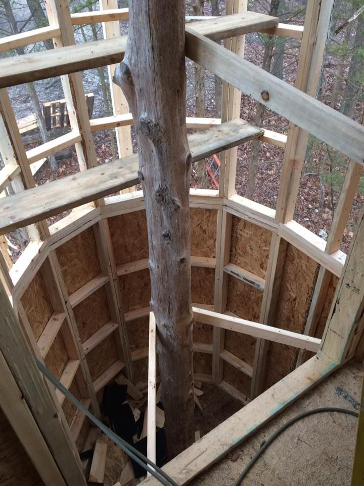 Looking Down The Spiral Staircase Tower Of The Treehouse. This Is One Of 6 Treehouse  Cabins At Branson Treehouse Adventures.
