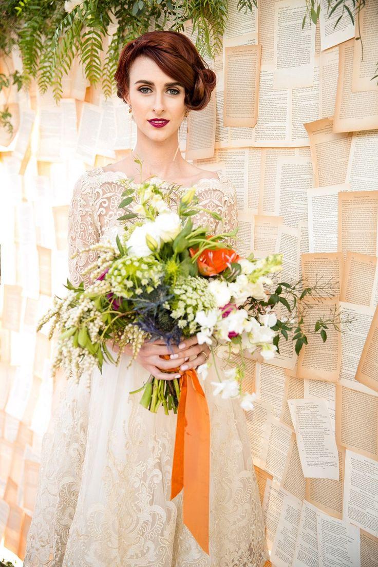 Vintage pearl bridal blog real brides news amp updates wedding - Literary Love A Bright Quirky Mid Century Vintage Wedding