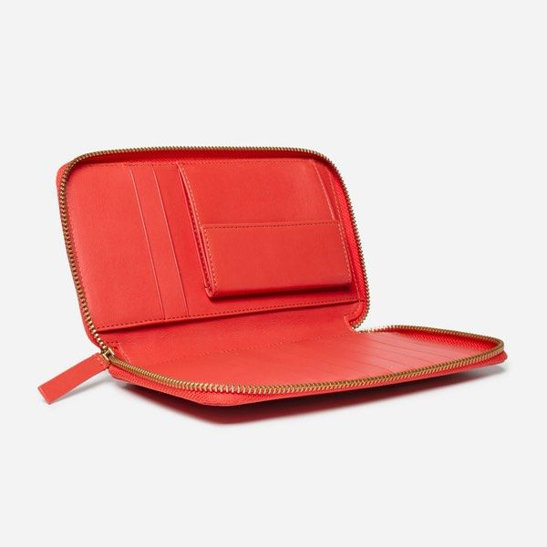 Everlane - The Long Zip Wallet, Bright Red