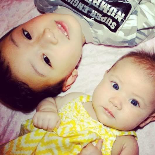 My kids are half Korean half white. (different bio dads)