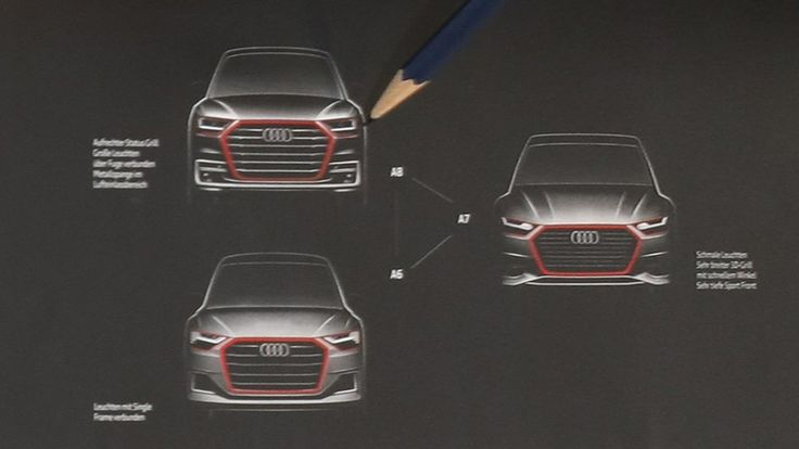 Official sketches of the next-generation Audi A6, A7 and A8 finally revealed