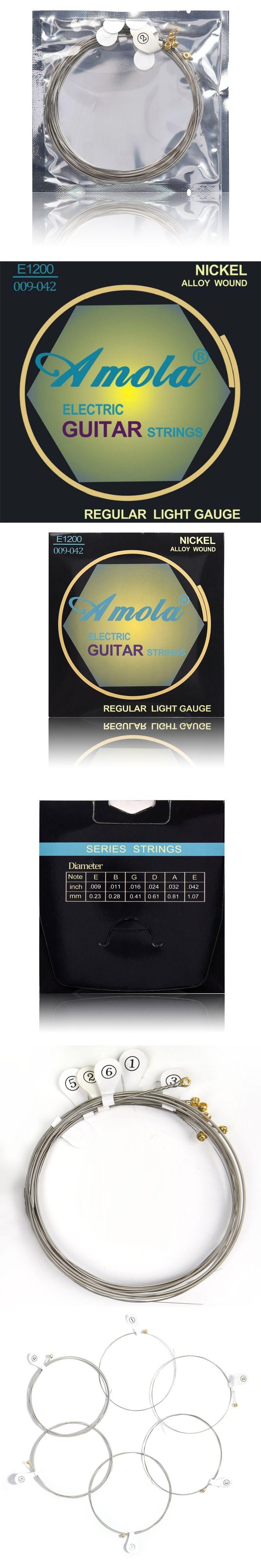 Amola E1200 .009-.042 Electric guitar strings Super Light musical instrument guitar parts accessories wholesale