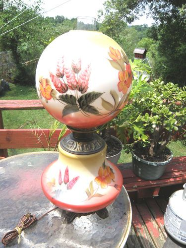 Antique Gone with The Wind Lamp from Rocester Co | eBay
