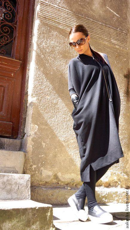 Купить Туника платье Cotton Dress - черный, платье, платье летнее, платье на лето, платья
