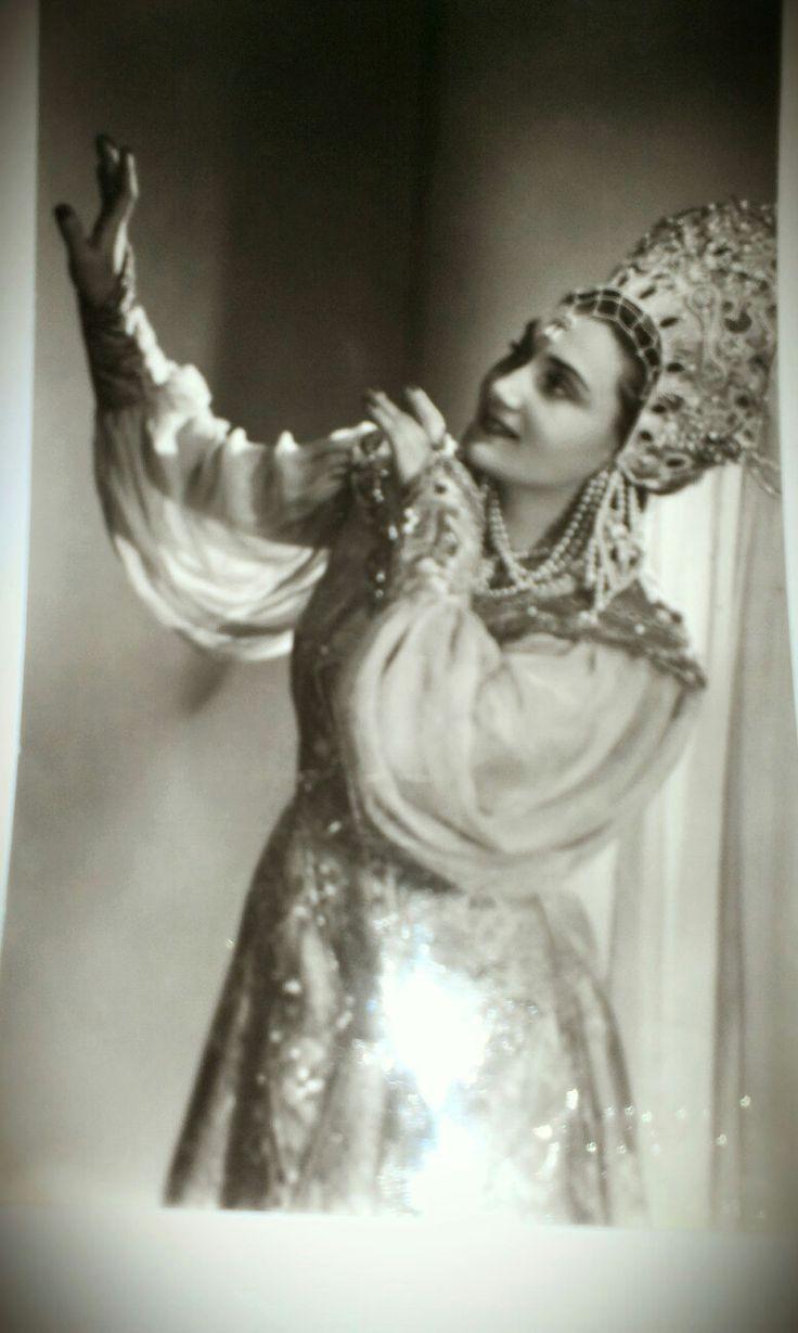 Theater Kostüm für eine Opernsängerin aus den 50 Jahren