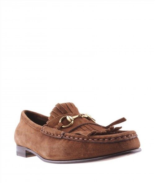 200.00$  Watch here - http://viocd.justgood.pw/vig/item.php?t=3wen3t35250 - Gucci Brown Suede Loafers, Size 38 200.00$