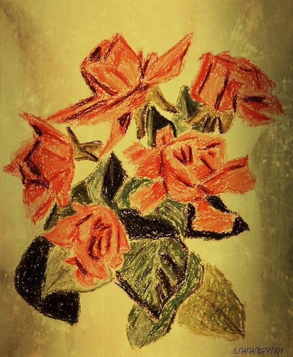 Oil Pastel Roses