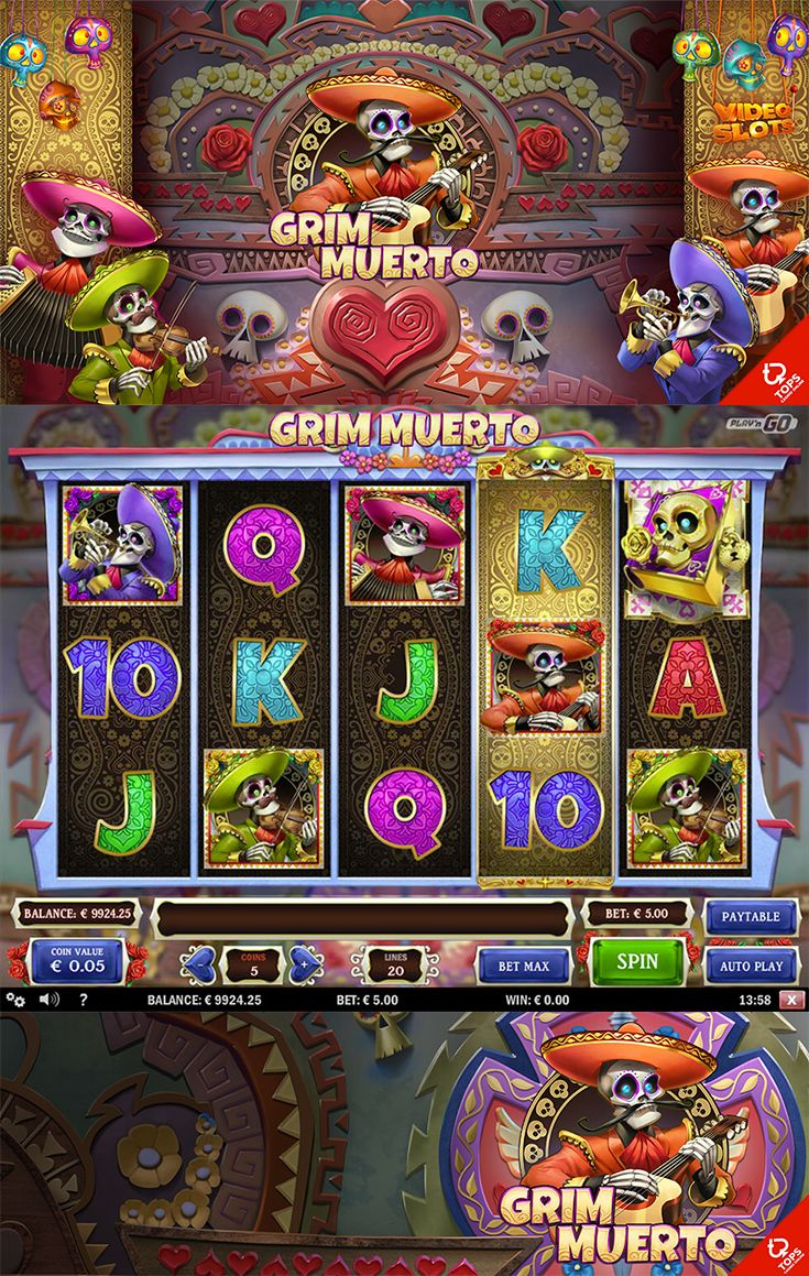 Play the beautiful Grim Muerto slot for free at The SpinRoom!   --  #FreeSlot…