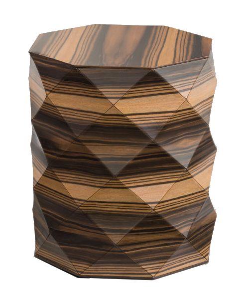 Beistelltisch - Diamond Wood Small Side Table - einzigartige Holzform - exklusive Möbel - Tesler + Mendelovitch - Design - Interieur - Ebenholz - Inneneinrichtung