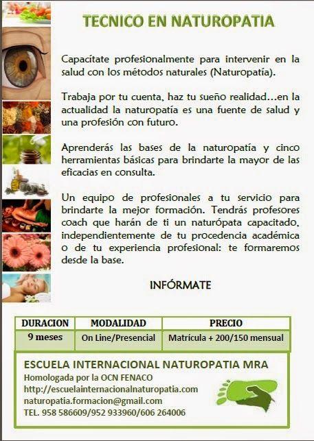 Un método natural de salud..NATUROPATIA: Ciclo Formativo Técnico en Naturopatía