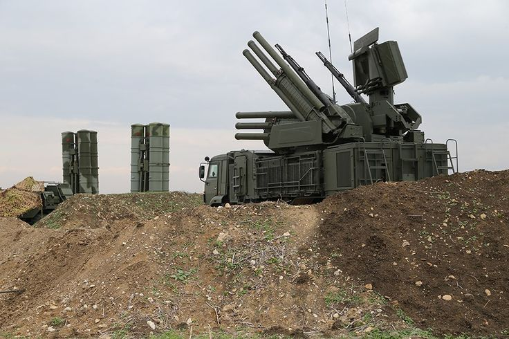 Russian Air Force Pantsyr-S1 air defense system at Hmeymim airbase in Syria December 16, 2015