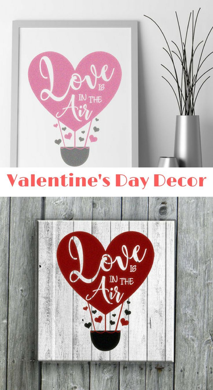 Valentines Day Decorations Wall Decal Vinyl Decal Or Stencil For