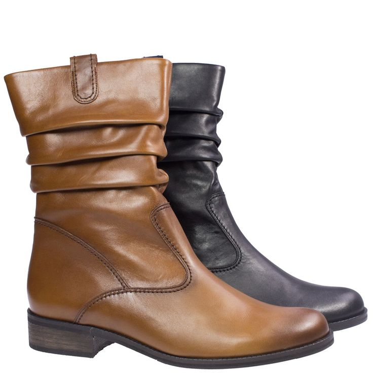 Genua by Gabor is a slouch top boot that gives a relaxed look and feel with its amazing high quality supple leather. Available at Rosenberg Shoes in black and tan and sizes AU 11-13.5.