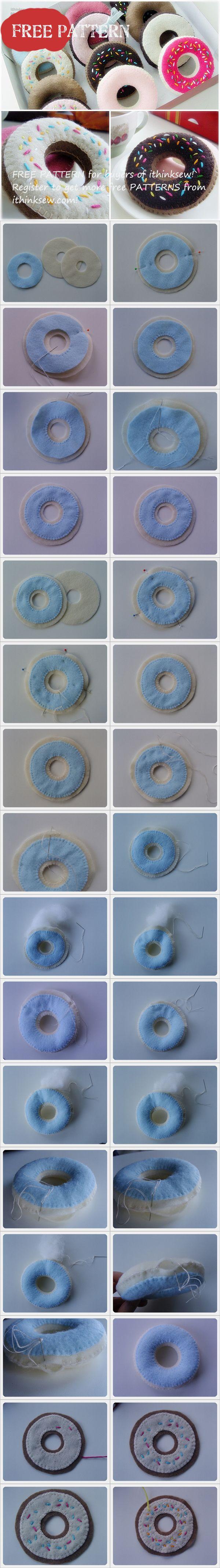 Free Pattern for buyers - Felt Ducan Donut