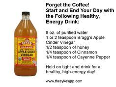 apple cider vinegar health benefits | apple cider vinegar Ed Sykes energy booster energy drink healthy ...