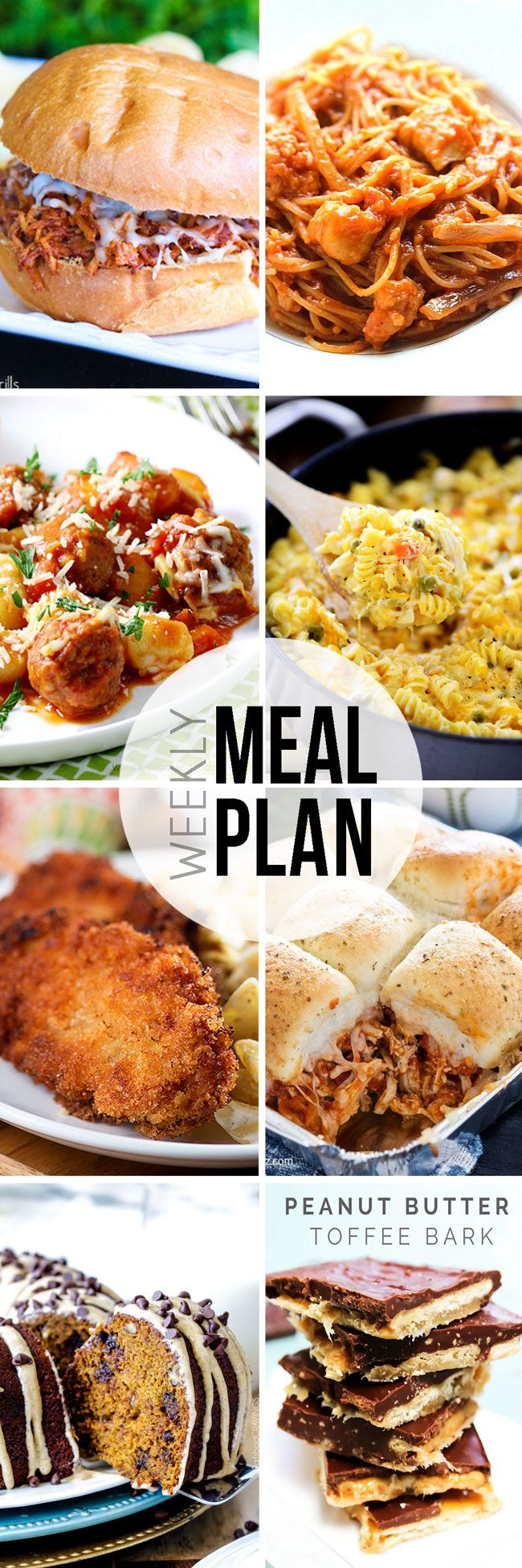 Easy Meal Plan Sunday #19 is here to help you through the week. Dinner, 2 desserts and a breakfast are at your fingertips.
