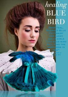 DOLLY Modrý Ptáček PETTI sukně