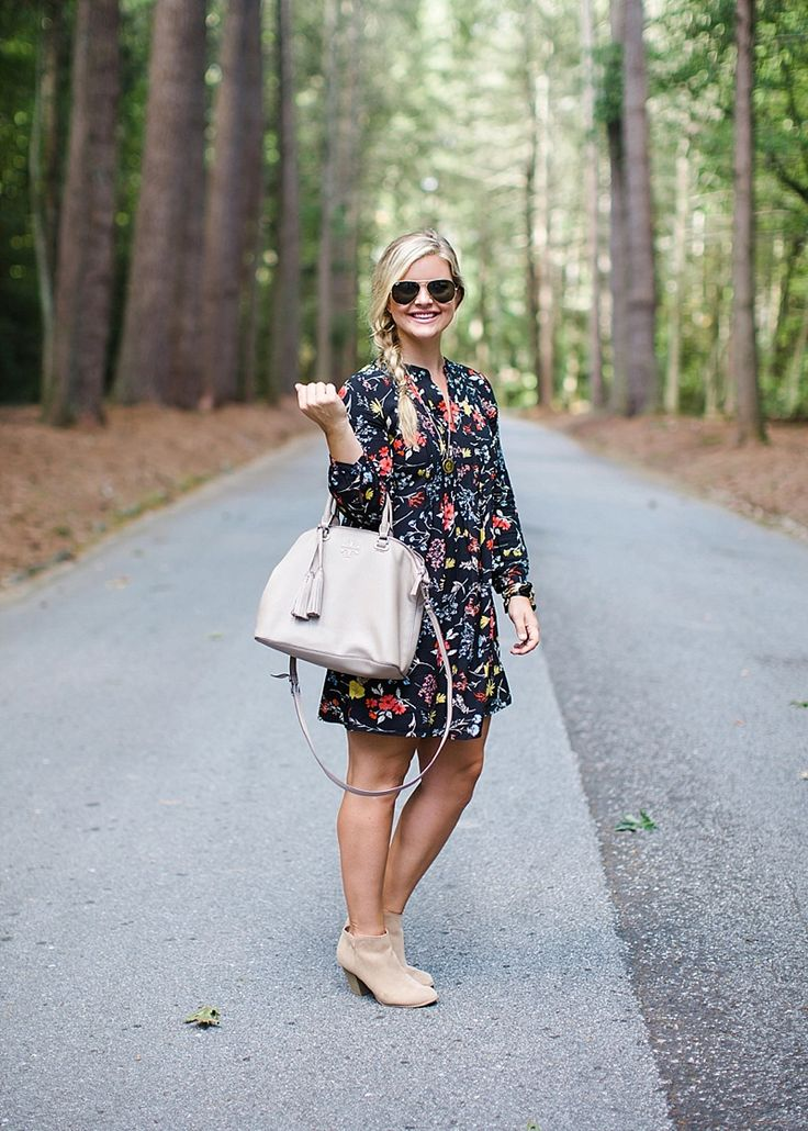 I have This dress. I'm still working on how to style it. Old Navy Black Floral Dress