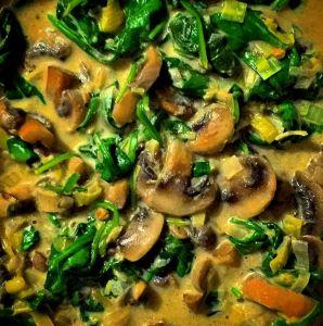 Mushroom, Leek & Spinach Stew