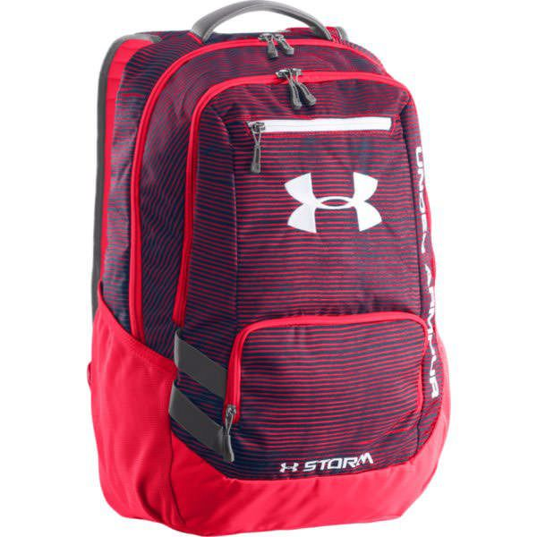 Under Armour 1256953 Hustle Backpack - Neon Coral/Purple $54.99