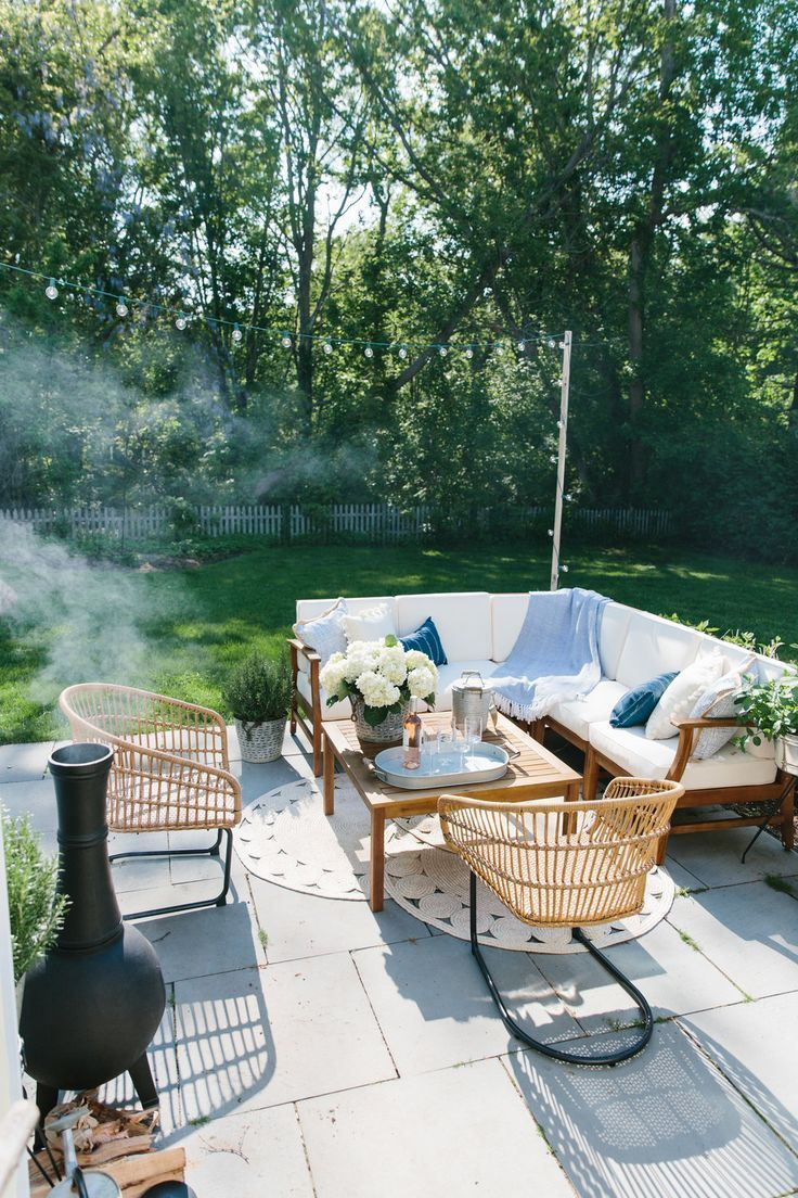 Outdoor Patio Update Summer Entertaining With Joss Main Abby Capalbo In 2020 Patio Backyard Small Outdoor Patios