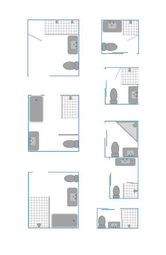 8 kleine badkamer plattegronden - Kleine badkamers.nl
