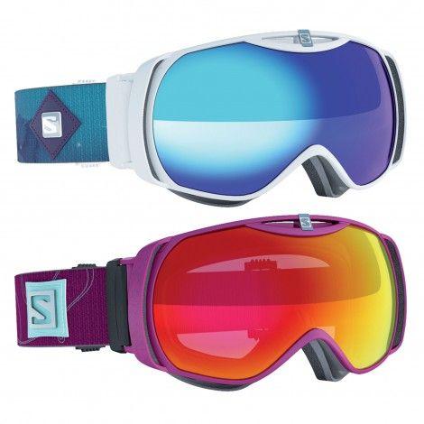 De #Salomon Xtend S #skibril is geschikt voor een smaller gezicht. Door het custom-frame sluit de bril uitstekend aan.